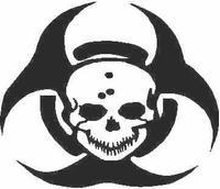 Biohazard Skull Decal / Sticker 02