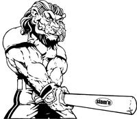 Lions Baseball Mascot Decal / Sticker