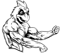 Weightlifting Cardinals Mascot Decal / Sticker 4