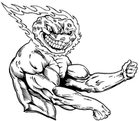 Weightlifting Comets Mascot Decal / Sticker 4