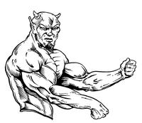 Weightlifting Devils Mascot Decal / Sticker 4