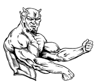 Weightlifting Devils Mascot Decal / Sticker 4
