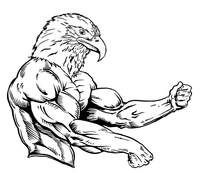 Weightlifting Eagles Mascot Decal / Sticker 4