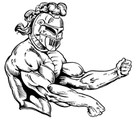 Weightlifting Knights Mascot Decal / Sticker 4