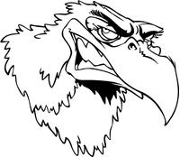 Eagles Head Mascot Decal / Sticker