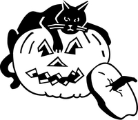 Jack-O-Lantern Decal / Sticker 04