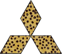 Cheetah Mitsubishi Diamond Decal / Sticker