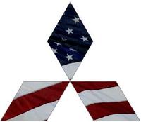 American Flag Mitsubishi Diamond Decal / Sticker