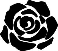 Rose Flower Decal / Sticker 01