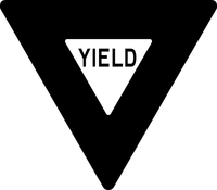 Yield Sign Decal / Sticker 01