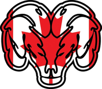 Canadian Flag Ram Decal / Sticker 0102
