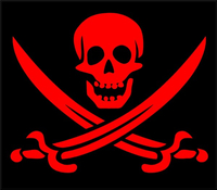 Pirate Flag Decal / Sticker 08