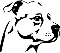 Pitbull Decal / Sticker 15