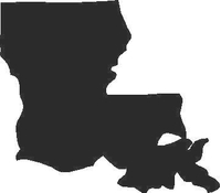 Louisiana Decal / Sticker 01