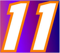 11 Race Number 2 Color Motor Font Decal / Sticker