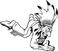Chiefs Mascot Decal / Sticker