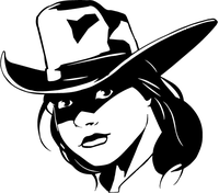 Cowgirls Mascot Decal / Sticker
