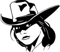 Cowgirls Mascot Decal / Sticker
