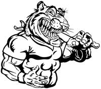 Tigers Mascot Decal / Sticker