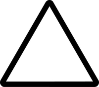 Hazard Triangle Sign Decal / Sticker 01