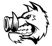 Razorbacks Mascots Decal / Sticker 2
