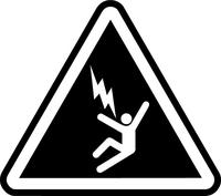 Electrocution Hazard Sign Decal / Sticker 02