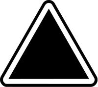 Hazard Triangle Sign Decal / Sticker 02