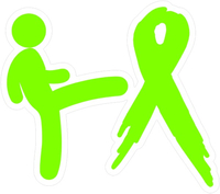 Kicking Lymphoma Cancer's Ass Decal / Sticker 01