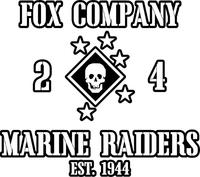 Fox Company 24 Marine Raiders Decal / Sticker 01