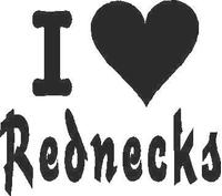 I Love Rednecks Decal / Sticker