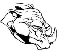 Rhinos Head Decal / Sticker