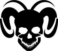 Ram Skull Decal / Sticker 20