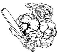 Baseball Comets Mascot Decal / Sticker 06