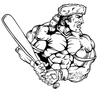 Baseball Frontiersman Mascot Decal / Sticker 4