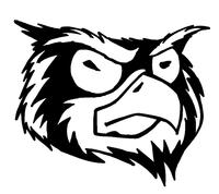 Owls Mascot Decal / Sticker 8