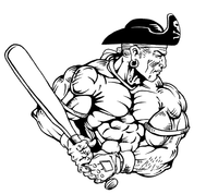 Baseball Pirates Mascot Decal / Sticker 2