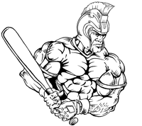 Baseball Paladins / Warriors Mascot Decal / Sticker 2