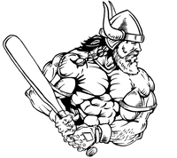 Baseball Vikings Mascot Decal / Sticker 2