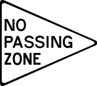 No Passing Zone Decal / Sticker 01