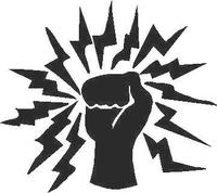 Fist of Lighning Decal / Sticker