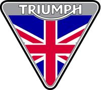 Triumph Triangle British Flag Decal / Sticker 45
