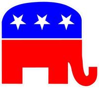 Republican Elephant GOP Decal / Sticker 01