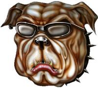 Bulldog Decal / Sticker 18