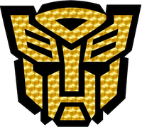 Gold Engine Turn Autobot Decal / Sticker