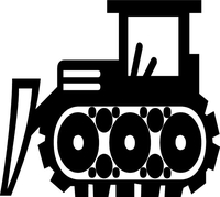 Bulldozer Decal / Sticker 01