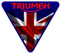 Triumph Triangle British Flag Decal / Sticker 46