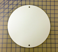 zz White Plastic 10 inch Circular Blank Plate