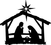 Christmas Manger Decal / Sticker 01