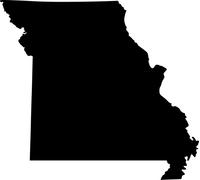 Missouri Outline Decal / Sticker 01