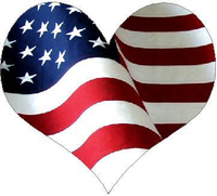 American Flag Heart 02 Decal / Sticker